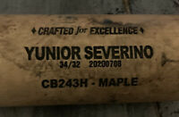 TWINS YUNIOR SEVERINO COOPERSTOWN BAT CO GAME USED PERSONAL BAT CRACKED RARE 8