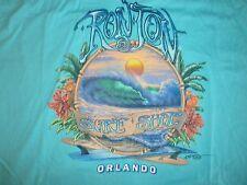 RON JON SURF SHOP ORLANDO LONGBOARD FIN 100% LIGHTWEIGHT SOFT COTTON S/S SIZE L