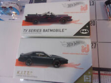 Hot Wheels Id Cars Lot Of 2 Knight Rider Tv Series Batmobile Free Shipping