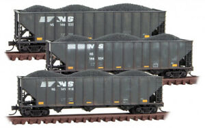 Micro-Trains MTL N-Scale 100-Ton 3-Bay Hoppers Norfolk Southern Weathered 3-Pack
