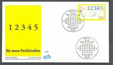 "BRD FDC MiNr 1659 (1) ""Neue Postleitzahlen"" -Leitsystem-Logistik-Postgeschichte-"