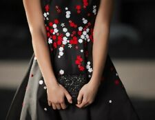 Karen Millen Black Embellished Occasion Dress Chain Strap Clutch Hand Bag New