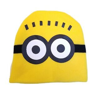 Despicable Me Minion 2 Eyes Knit Hat NWOT Minion Made