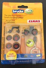 Bruder Mini CLAAS Agriculture Die Cast Metal Tractor Keychain #00431 1:128 NIB