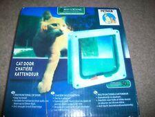 "New Petrich 4-Way Locking Cat Door 190 mm (7.48"") 200 mm (7.87"") Size Medium Brn"