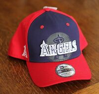 Oakley Los Angeles Anaheim Angels Navy Red Baseball Hat Cap Mens Size M/L - NEW!