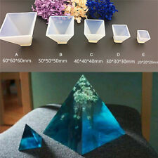 Pyramid Silicone Mould DIY Resin Decorative Mold Craft Jewelry Making MoldA*