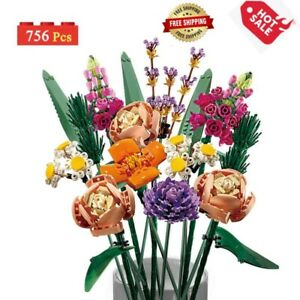 Flower Bouquets Building Kit (756 Pieces) Blocks Botanical Collection gift Toys