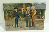 Bonanza Landon Greene Blocker Roberts Western TV show photo signed