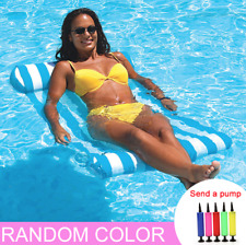 Swimming Pool Floating Water Hammock Lounge Chair Inflatable Floating Summer