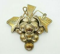 Vintage Taxco Mexico TD-55 Sterling Silver 925 Grape Cluster Pin Brooch Pendant