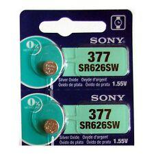 2 NEW SONY 377 SR626SW SR66 V377 watch battery FRESHLY NEW - USA Seller