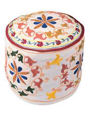 Handmade White Ottomans