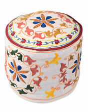 Handmade White Ottomans, Footstools & Poufs