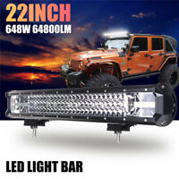 22''Inch 648W Led Work Light Bar Spot Flood Combo Lamp Offroad Driving