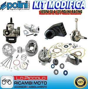 MAXI KIT GRUPPO TERMICO RACING + ALBERO MOTORE VESPA 50 125 130 SPECIAL PK APE