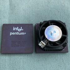 Lot 2 Intel Pentium Cpu Processor A80502100 Bp80502133 iPp i133 Heatsink Pc Vtg