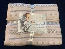 Boll & Branch Fair Isle Knit Baby Throw/Blanket * Petal * Pink  NEW