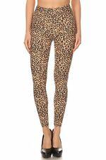 Women's 3X 5X Small Cheetah Animal Skin Pattern Print Leggings