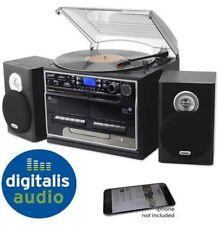 Steepletone SMC386 Black Hifi Record CD Radio MP3 Bluetooth 2 Tape Music Centre