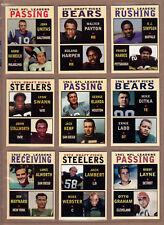 Lot of 9 Draft Picks & Leaders tribute cards  Unitas Payton OJ Simpson & more