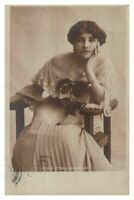 Antique printed postcard Miss Ethel Warwick actress theatre stage