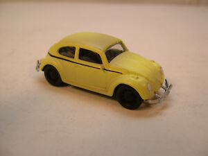UNRESTORED YELLOW VW BEETLE GREENLIGHT 1:64 SCALE DIECAST METAL MODEL CAR