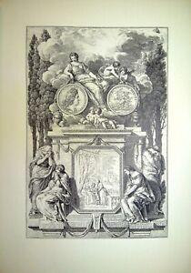 Gravure - HISTOIRE DE LOUIS XV PAR LES MÉDAILLES, CHARLES-NICOLAS COCHIN LE FILS