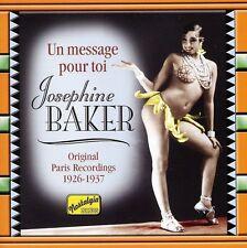 Josephine Baker - Un Message Pour Toi (1926-37) [New CD] Germany - Import