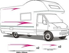 CAMPER VAN MOTORHOME VINYL GRAPHICS STICKERS DECALS SET RV CARAVAN HORSEBOX set5