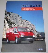 Auto Prospekt Katalog Ford Transit In Bestechechender Form kraftvoll zuverlässig