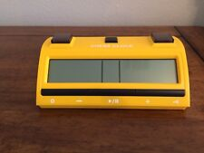 Yellow and daring chess clock with an outstanding design