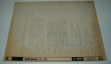 Microfich Ersatzteilkatalog VW Golf II 2 Typ 19E Synchro ET Katalog 02/1987!
