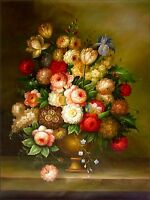 Quality Hand Painted Oil Painting, Floral Still Life II, 36x48in