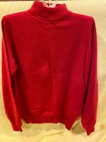Charter Club Cashmere 2 ply Red mock turtleneck Sweater Women Small preowned