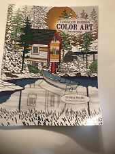 LEISURE ARTS COLORING BOOK LANDSCAPE WONDERS COLOR ART FOR EVERYONE ADULT COLOR