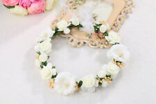 Lovely Flower Headband With Ribbon Wreath Wedding Garlands Floral Crown Hairband