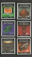 New Zealand SC # 1329-1334 Maori Crafts . Complete set. MNH
