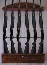 Gun Rack 6-gun locking ammo cabinet and locking cable for rifles and shotguns