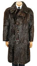 M Vintage Herrenmantel Herren Pelzmantel Nutria mens dark fur coypu coat Mantel