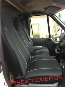Fiat Scudo (07-16) HEAVY Duty GREY Trim VAN Seat COVERS - Single + Double
