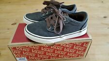 Boys Atwood Deluxe Vans Shoes Chestnut/Marshmallow Kids Size UK 13.
