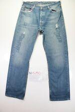 Levi's 501 Customized (Cod. M1490) tg50 W36 W34 jeans usato Vita Alta