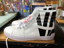 Vans Sk8-Hi (Classic Tumble) White Leather Size US 10 Men's VN0A38GEUBD