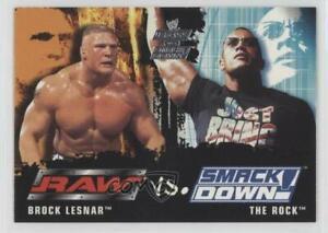 2002 Fleer WWE RAW vs SmackDown! Brock Lesnar The Rock #86 Rookie