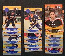 ST. LOUIS BLUES 1990-91 Pro Set 18-Card Team Set * HULL *OATES ++ _ Smoke-Free