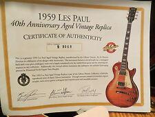 Gibson Custom Les Paul 1959 Historic Reissue 1999  40th Anniversary MURPHY AGED