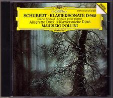 Maurizio Pollini: SCHUBERT piano sonata d.960 Pezzi Pianoforte d.946 Allegretto CD