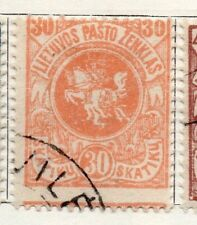Lithuania 1918 Early Issue Fine Used 30sk. 118902