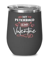 Peterbald Cat Lovers Wine Glass Insulated 12oz Black Tumbler Mug Cute Gift for C
